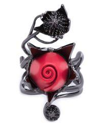 Eddie Borgo | Black 'climbing Rose' Ring | Lyst