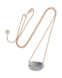 Monica Vinader Metallic Siren Rose Gold-Plated Labradorite Necklace
