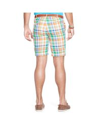 Ralph Lauren - Blue Classic-fit Linen Madras Short for Men - Lyst