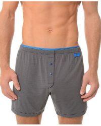 2xist | Black Barcode Men's Knit Boxers for Men | Lyst