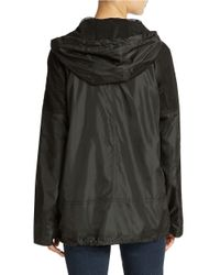Sam Edelman | Black Mesh Detail Hooded Jacket | Lyst
