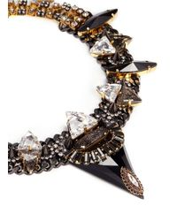 Erickson Beamon - Metallic 'sacred Geometry' Crystal Curb Chain Necklace - Lyst