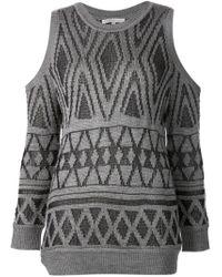 Rebecca Minkoff - Green Open Shoulder Sweater - Lyst