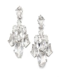 Alexis Bittar Fine | Metallic Silver Ice Marquis Clear Quartz, Diamond & Sterling Silver Kite Chandelier Earrings | Lyst