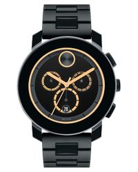 Movado | Black 'bold' Chronograph Bracelet Watch for Men | Lyst