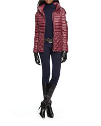 Lauren by Ralph Lauren | Purple Mixed Quilted Down Jacket | Lyst