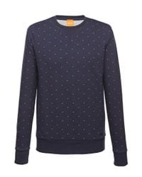 BOSS Orange | Blue Cotton Sweatshirt 'wyott' for Men | Lyst