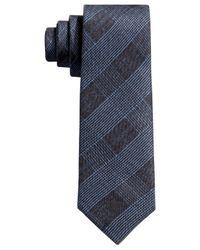 BOSS - Boss Dark Blue And Black Plaid Skinny Tie for Men - Lyst