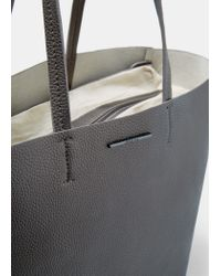 Mango - Metallic Faux-leather Shopper Bag - Lyst