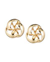 Jones New York - Metallic Goldtone Pinwheel Stud Earrings - Lyst