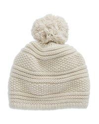 Portolano | Natural Cashmere Pom Hat | Lyst