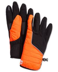 Timberland - Orange Puff Coat Touch Screen Glove for Men - Lyst