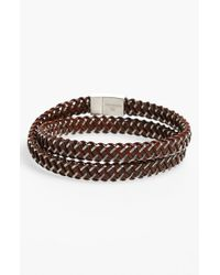 Tateossian | Brown 'slide Intrecciato' Bracelet for Men | Lyst