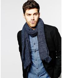 Esprit - Blue Melange Scarf for Men - Lyst