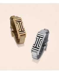 Tory Burch - For Fitbit Metallic Leather Bracelet - Lyst