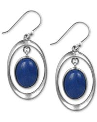 Lucky Brand | Silver-tone Blue Drop Earrings | Lyst