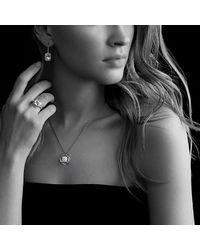 David Yurman - Noblesse Ring With Hampton Blue Topaz And Diamonds - Lyst