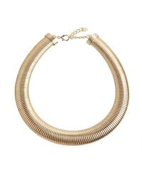 R.j. Graziano | Metallic Gold Metal Coil Necklace | Lyst