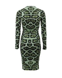 Givenchy | Green Jaguar Jersey Dress | Lyst