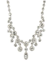 Givenchy | Metallic Silver-tone Crystal Statement Necklace | Lyst