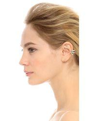 Adia Kibur - Metallic Eileen Left Earring - Clear/Gold - Lyst