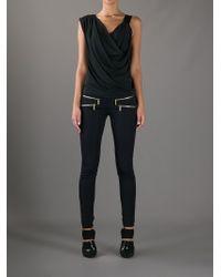 ec26b472762 Lyst - MICHAEL Michael Kors Skinny Zip Detail Trouser in Blue