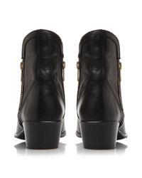Steve Madden - Black Zipster Cuban Heel Ankle Boot - Lyst