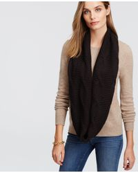 Ann Taylor - Black Chunky Cashmere Infinity Scarf - Lyst