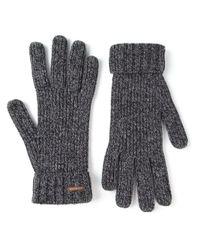 DSquared² - Gray Knitted Gloves for Men - Lyst
