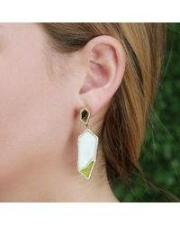 Monique Péan - Metallic Walrus Ivory And Serpentine Earrings - Lyst