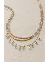 Anthropologie   Metallic Crystalline Necklace   Lyst