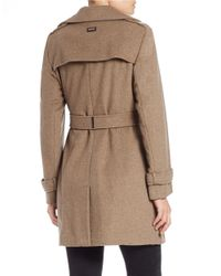 Calvin Klein - Natural Wool-blend Trench Coat - Lyst