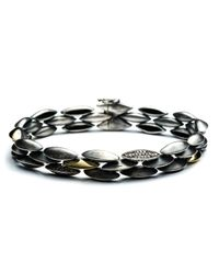 Alexis Bittar - Metallic Slate Marquis Triple Row Diamond Pavã© Tennis Bracelet With 18k Gold - Lyst
