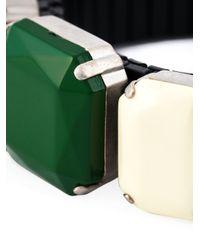 Isabel Marant   Green Three Stone Bracelet   Lyst