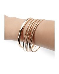 Forever 21 - Metallic Twisted Bangle Set - Lyst
