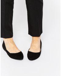 Call It Spring - Unierwen Black Flat Ballerina Shoes - Lyst