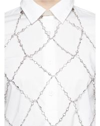 Zana Bayne | Metallic 'Moonbather' Swarovski Crystal Chain Leather Halter Top | Lyst