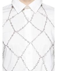 Zana Bayne - Metallic 'Moonbather' Swarovski Crystal Chain Leather Halter Top - Lyst