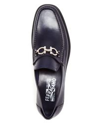 Ferragamo - Blue Master Calf Loafers for Men - Lyst