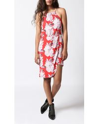 Azalea - Red Colleen Halter Dress - Lyst
