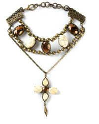 Jean Paul Gaultier | Metallic Embellished Necklace | Lyst