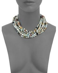 Kenneth Jay Lane | Multicolor Beaded Eight-strand Necklace | Lyst