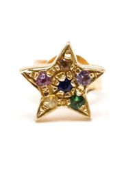 Carolina Bucci - Multicolor Gold Star Stud - Lyst