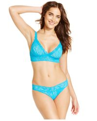 Hanky Panky | Blue Signature Lace Original Rise Thong 4811 | Lyst