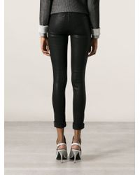 J Brand - Black Coated Skinny Jeans - Lyst