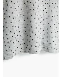 Mango | Gray Polka-dot Jersey Dress | Lyst
