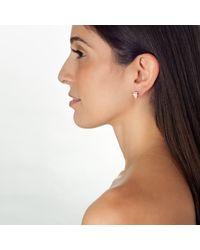 Piper Strand | Multicolor Enameled Diamond Stud Earrings | Lyst