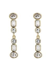 Kenneth Jay Lane | Metallic Jeweled Drop Earrings | Lyst
