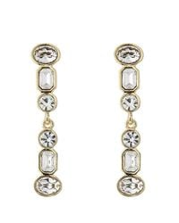 Kenneth Jay Lane - Metallic Jeweled Drop Earrings - Lyst