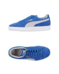 PUMA - Blue Low-tops & Trainers - Lyst